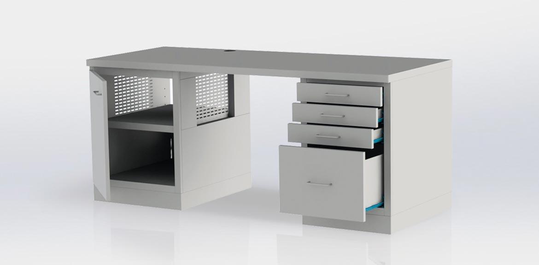 pc tisch m ller feinblechbautechnik. Black Bedroom Furniture Sets. Home Design Ideas