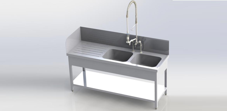 2 becken arbeitsplatte m ller feinblechbautechnik. Black Bedroom Furniture Sets. Home Design Ideas